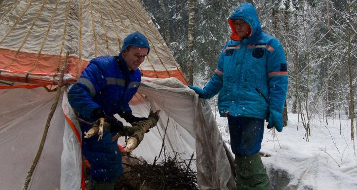 Simulacro de cosmonautas: sobrevivir en un bosque nevado