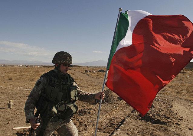 Soldado del ejército italiano