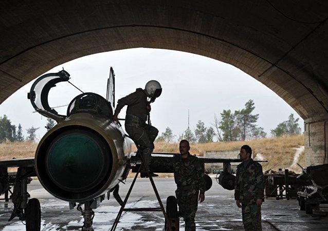 Piloto de la Fuerza Aérea siria (archivo)