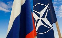Las banderas de Rusia y la OTAN