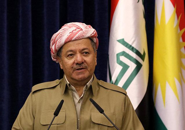Massud Barzani, presidente del Kurdistán