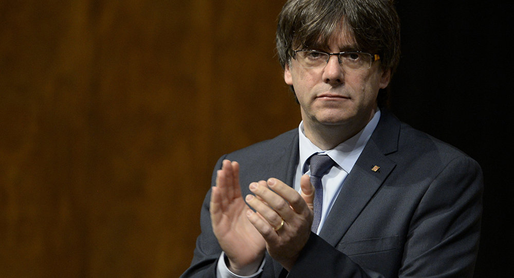 Newly elected president of the Catalonian regional government Carles Puigdemont