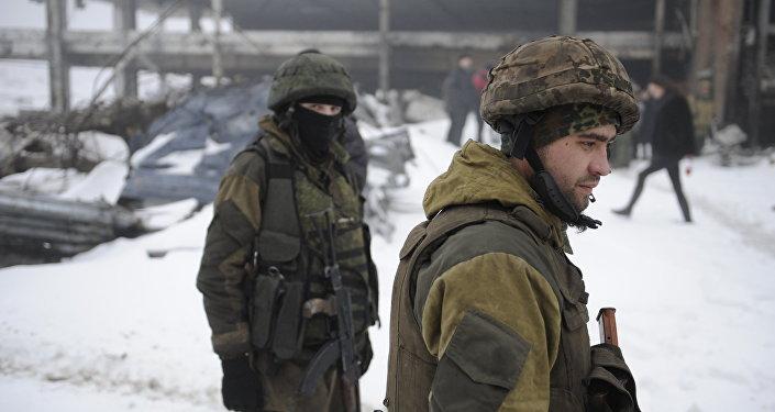 Milicianos de Donetsk