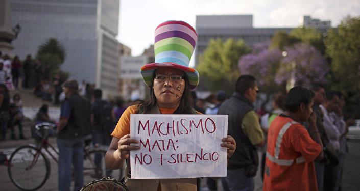 Una manifestación contra machismo en la Ciudad de México (archivo)