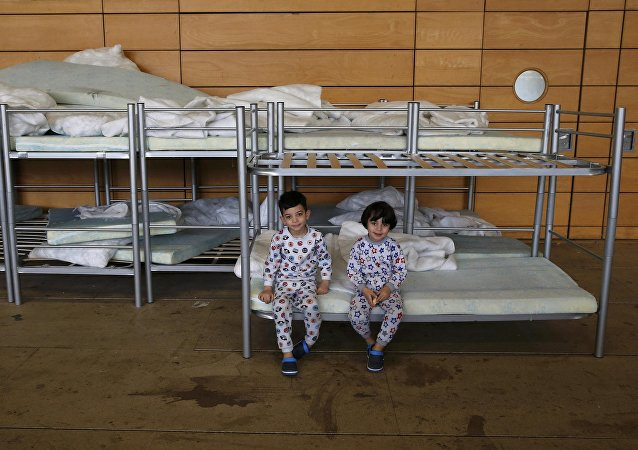 Niños refugiados en Berlín, la capital de Alemania
