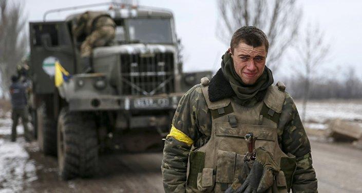 Militares ucranianos, foto de archivo