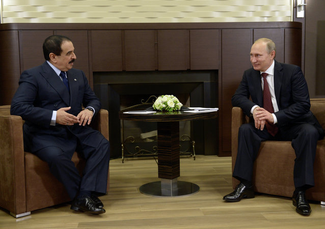 Rey de Bahréin, Hamad al Jalifa y presidente de Rusia, Vladímir Putin