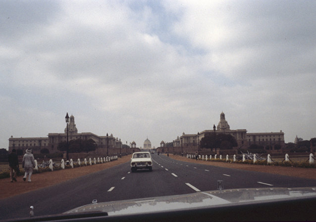 La carretera central de Rajpath en Nueva Delhi
