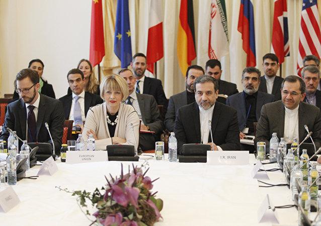 Reunión de las delegaciones de UE e Irán (archivo)