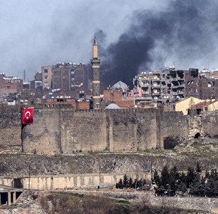 El distrito Sur de la ciudad de Diyarbakir después de los enfrentamientos entre los activistas kurdos y el Ejército turco