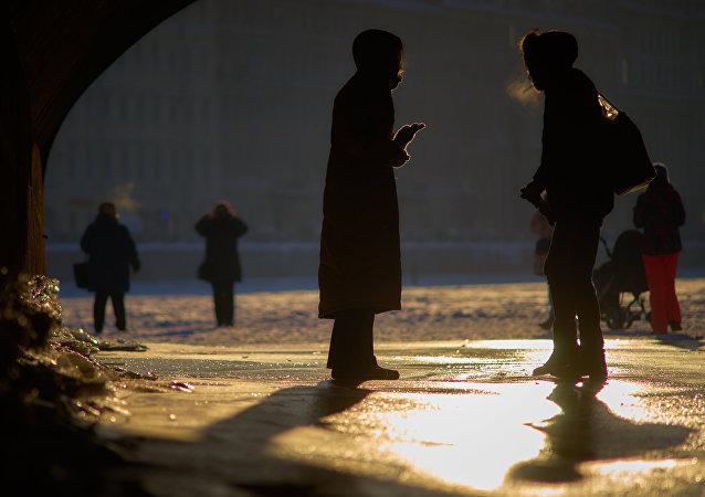 La gente en San Petersburgo