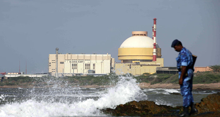 Central nuclear Kudankulam en la India