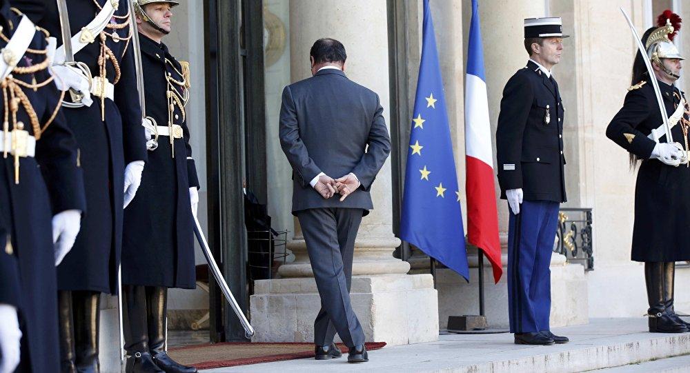 François Hollande, presidente de Francia, en su residencia en París
