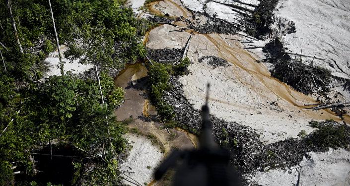 Una minería ilegal en Colombia