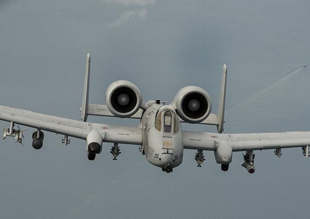 Avion A-10 de la Fuerza Aérea de EEUU (archivo)