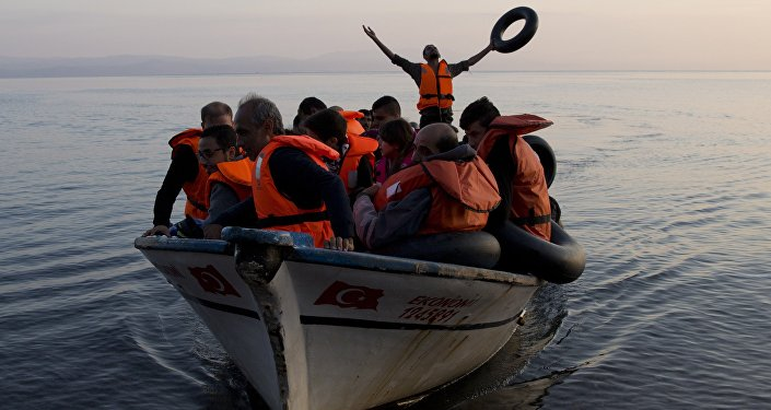 Refugiados en el mar Egeo (achivo)