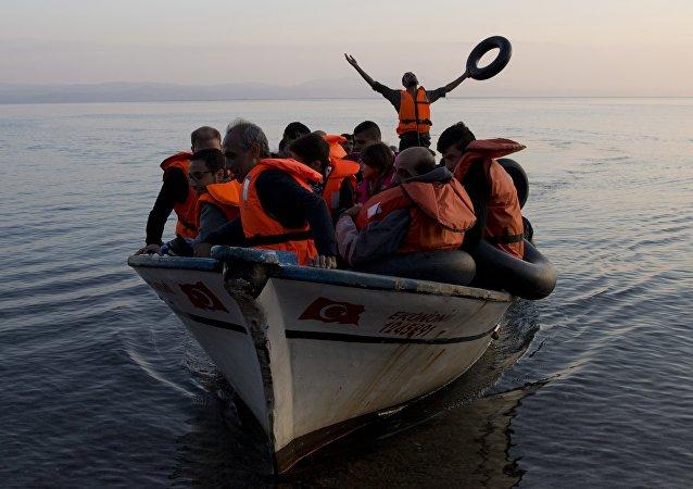 Refugiados en el mar Egeo