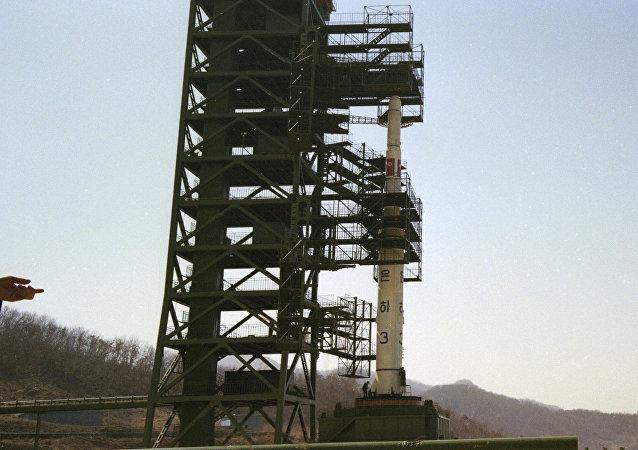 Lanzamiento de cohete en Corea del Norte