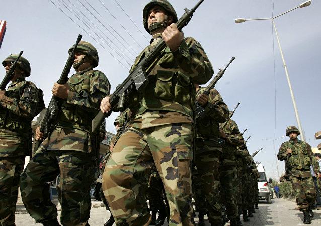 Soldados turcos en la ciudad de Cizre