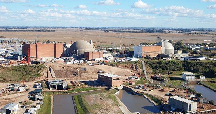 Central nuclear Atucha en Argentina