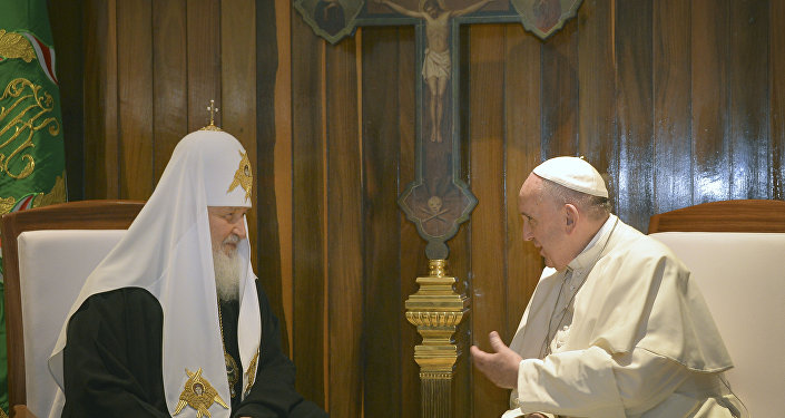 Patriarca ruso Kiril y papa Francisco