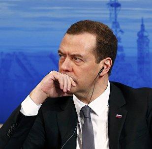 El primer ministro de Rusia, Dmitri Medvédev, en la Conferencia de Seguridad en Múnich