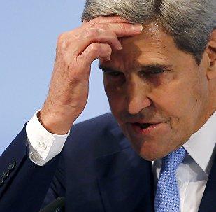 El secretario de estado de EEUU John Kerry durante su discurso en la Conferencia de Seguridad en Múnich