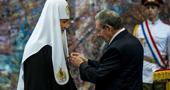 Patriarca Kiril recibió la Orden José Martí de manos del presidente cubano Raúl Castro