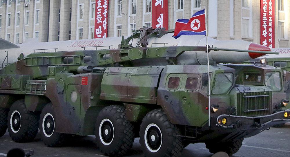 Desfile militar en Pyongyang, Corea del Norte (archivo)