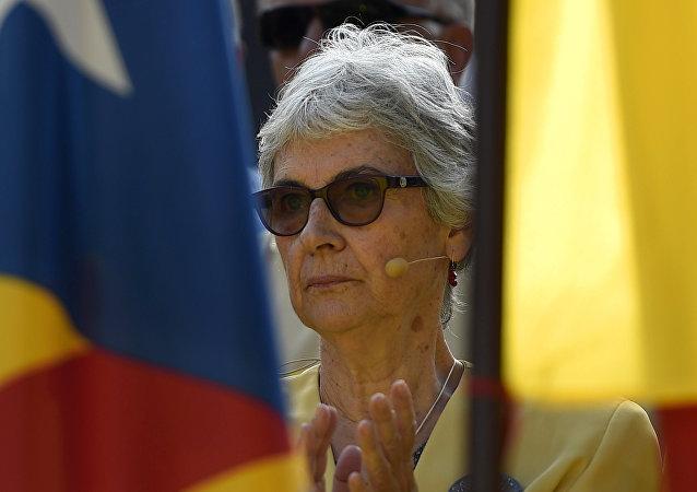 Muriel Casals, diputada de Junts Pel Sí (Juntos por el Sí) y expresidenta de la organización independentista Omnium Cultural (Archivo)