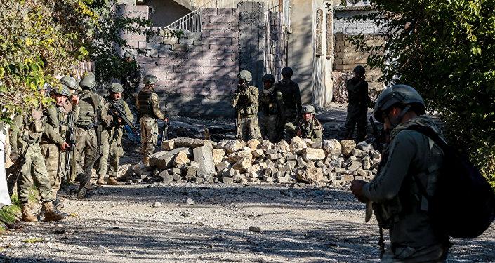 Las tropas turcas
