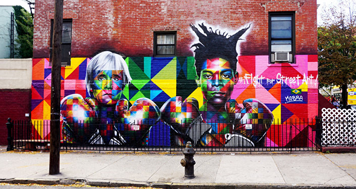 Andy Warhol y Jean-Michel Basquiat en Nueva York, EEUU