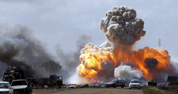 Bombardeos de la coalición en Libia (archivo)