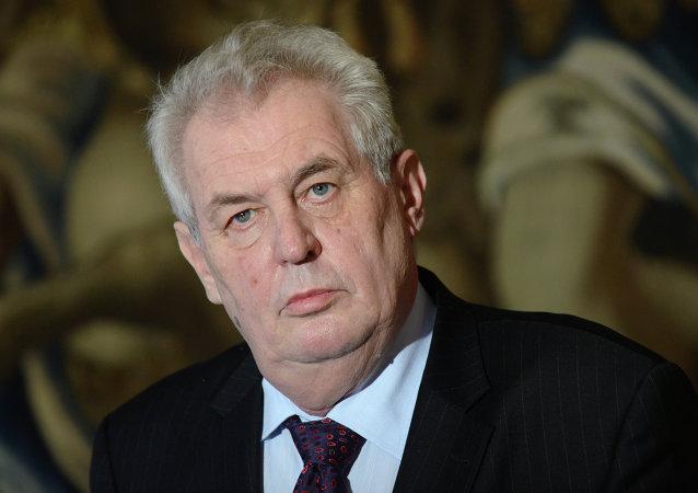 Milos Zeman, el presidente de la República Checa