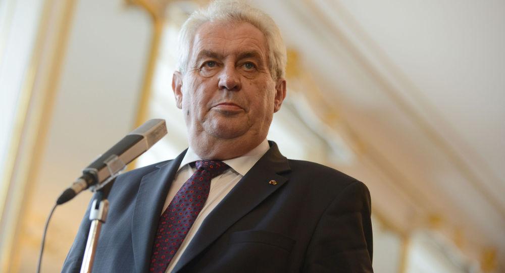 Milos Zeman, presidente de la República Checa