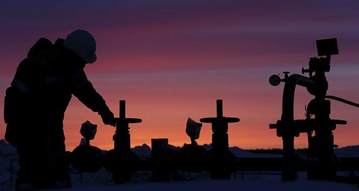 Campo petrolífero en Rusia