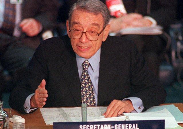 Boutros Boutros-Ghali, sexto secretario general de la ONU (archivo)