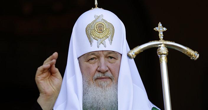 Patriarca ruso Kiril durante su visita a Paraguay