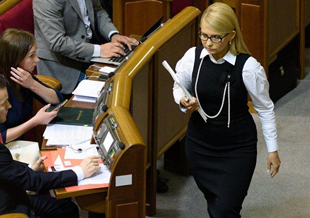 Yulia Timoshenko, la líder de la fracción Batkivschina