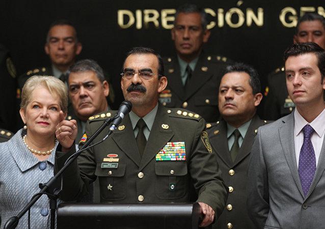 Rodolfo Palomino, el comandante de la Policía de Colombia