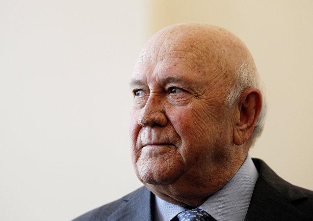 Frederik de Klerk, expresidente sudafricano y Premio Nobel de la Paz
