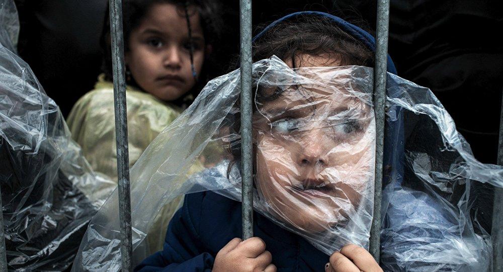 Niños refugiados en Serbia