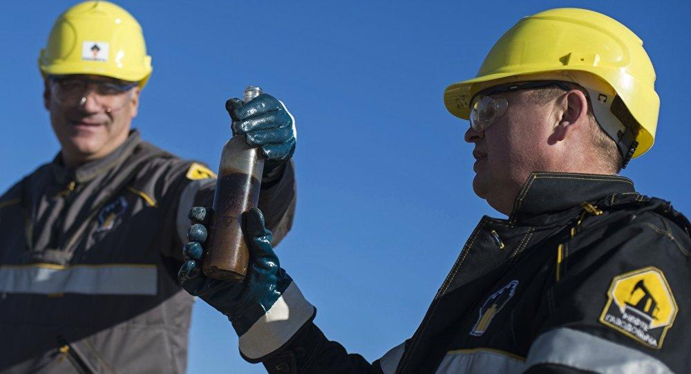 Extracción de petróleo por la compañía Rosneft