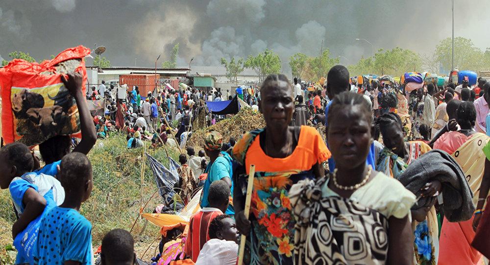 El lugar del ataque contra un campamento de la ONU para los desplazados internos en la ciudad de Malakal