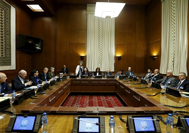 La mesa de negociaciones sobre Siria