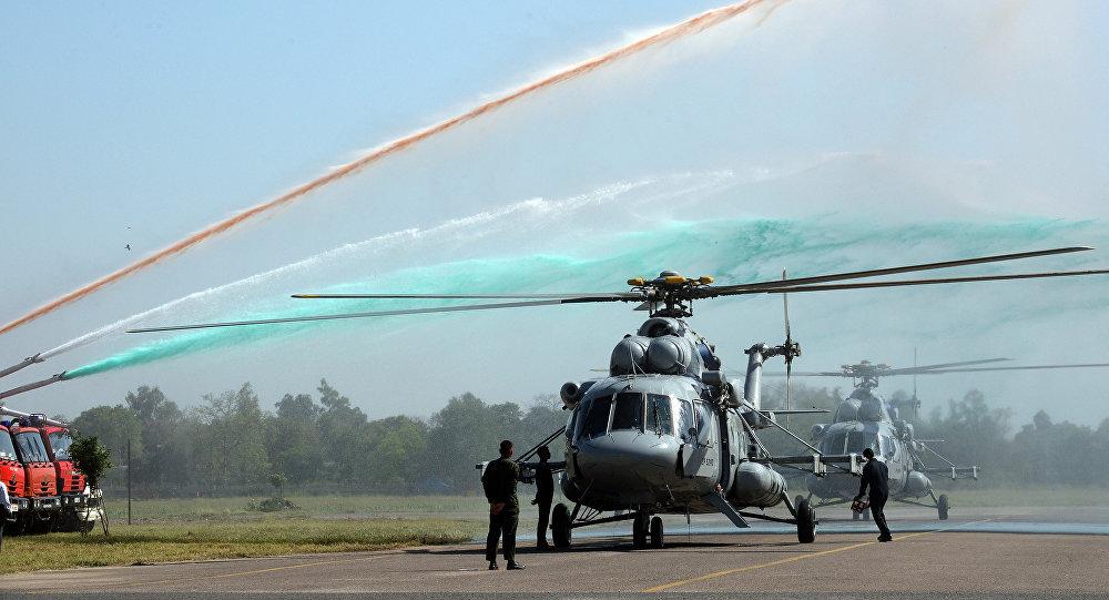 Los helicópteros rusos Mi-17V-5 en la India (archivo)