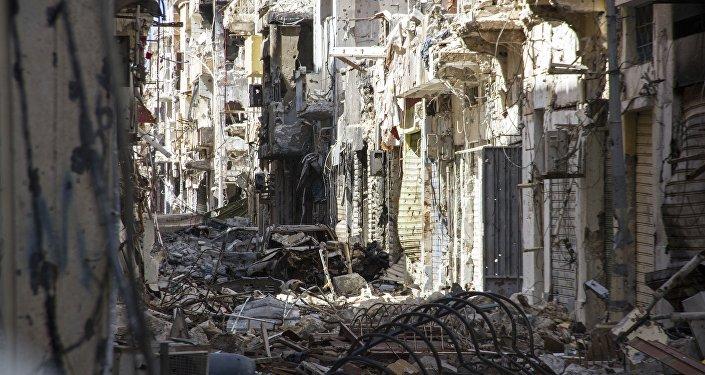Edificios destruidos en Bengasi, Libia (archivo)