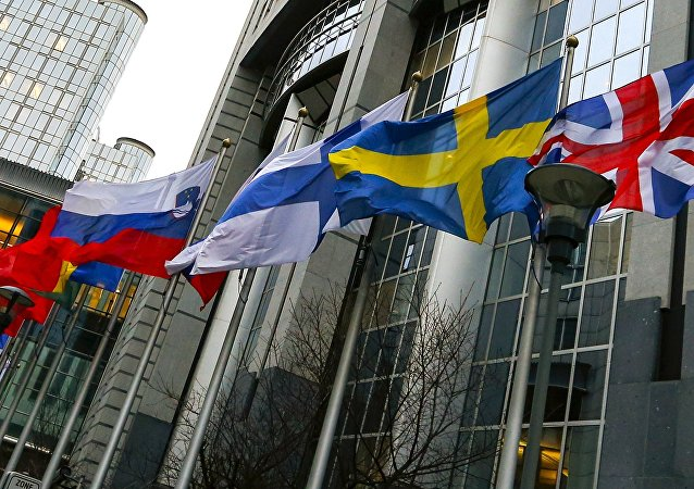 Banderas de los países-miembros de la UE
