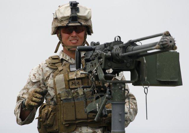 Un militar de la OTAN