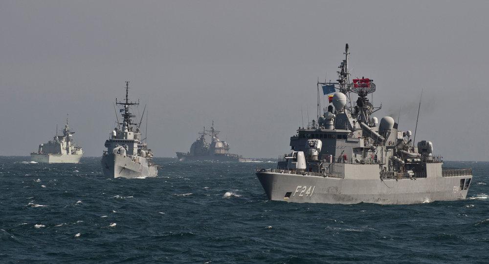 Buques de la OTAN en el mar Negro (archivo)